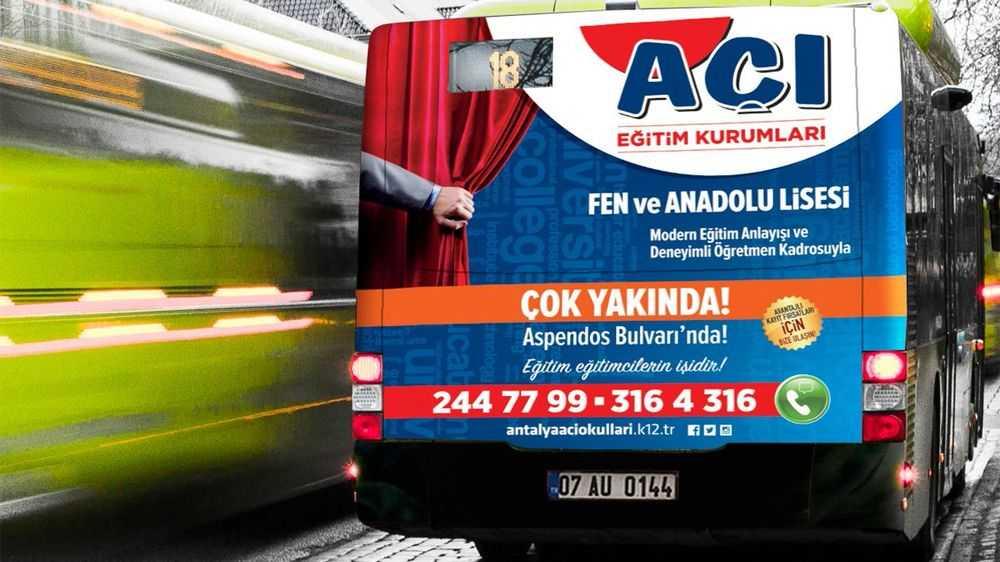 Antalya Otobüs Reklamları